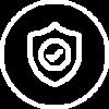Schild icoontje met een vinkje in het midden